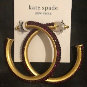 Kate Spade Crystal Hoop Earrings NWT
